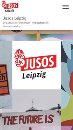 Vorschau der mobilen Webseite www.jusosleipzig.de, Jusos Leipzig