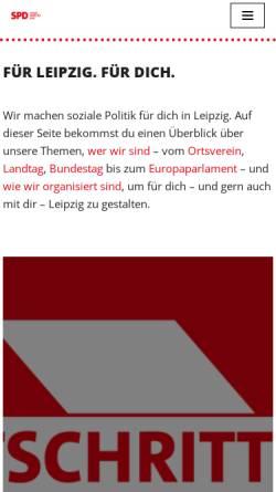 Vorschau der mobilen Webseite spd-leipzig.de, SPD-Kreisverband Leipzig-Borna