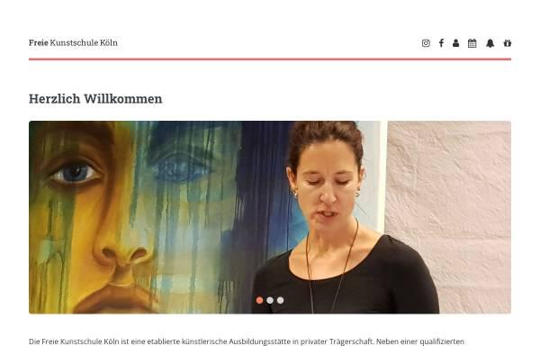 Vorschau von www.kunstschule-koeln.de, Freie Kunstschule Köln