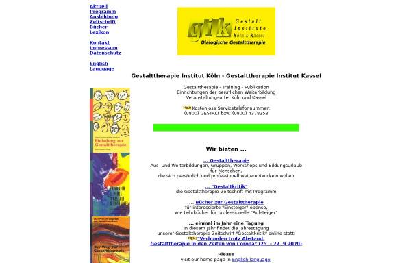 Vorschau von www.gestalt.de, Gestalt-Institut Köln / GIK Bildungswerkstatt