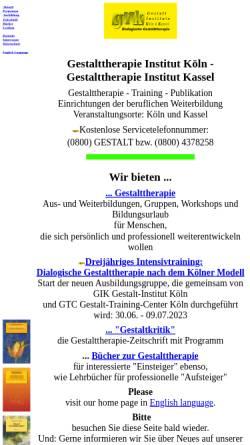 Vorschau der mobilen Webseite www.gestalt.de, Gestalt-Institut Köln / GIK Bildungswerkstatt
