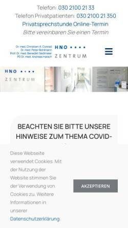 Vorschau der mobilen Webseite www.h-n-o.de, HNO-Gemeinschaftspraxis Dr. J. Held und C.-A. Conrad