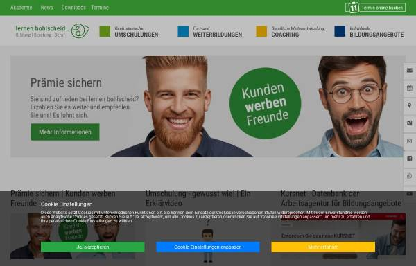 Vorschau von www.lernen-bohlscheid.de, Lernen Bohlscheid - Akademie für Bildungsprojekte GmbH