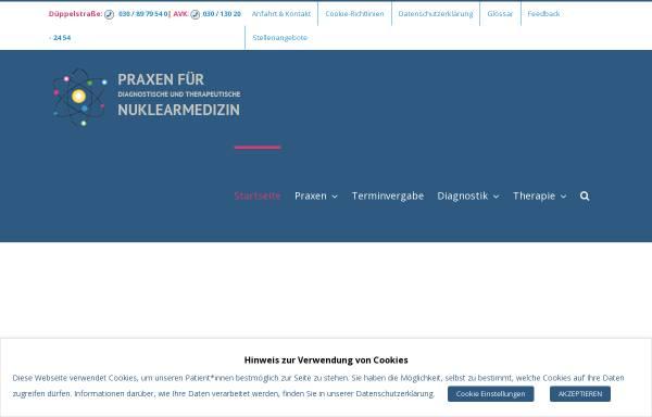 Vorschau von www.nuklearmedizin-berlin.de, Praxis für Nuklearmedizin