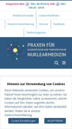 Vorschau der mobilen Webseite www.nuklearmedizin-berlin.de, Praxis für Nuklearmedizin