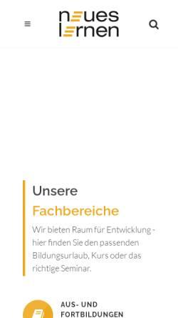 Vorschau der mobilen Webseite www.neues-lernen.info, Neues Lernen e.V.