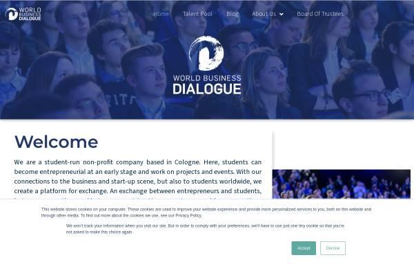 Vorschau von www.world-business-dialogue.com, OFW - Organisationsforum Wirtschaftskongress e.V.