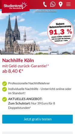 Vorschau der mobilen Webseite www.studienkreis-koeln.de, Studienkreis-Köln