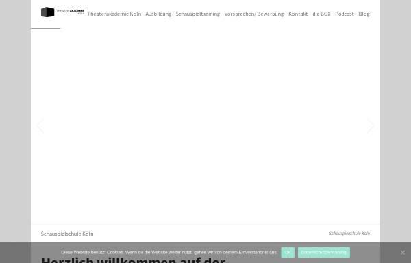 Vorschau von theaterakademie-koeln.de, Theaterakademie Köln