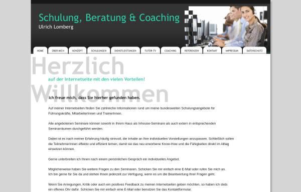 Vorschau von lomberg-online.de, Ulrich Lomberg, EDV-Schulung