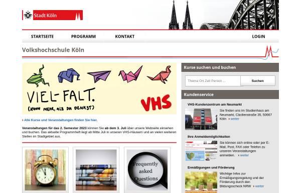 Vorschau von www.stadt-koeln.de, Volkshochschule Köln