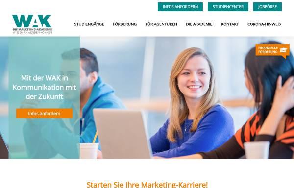 Vorschau von www.wak.de, WAK Westdeutsche Akademie für Kommunikation