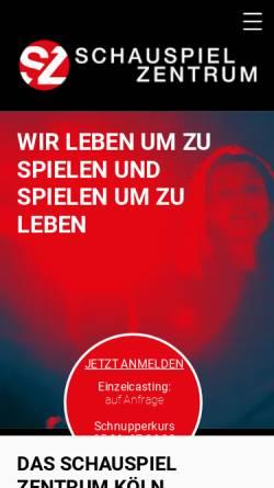 Vorschau der mobilen Webseite www.schauspiel-zentrum.de, Schauspiel Zentrum