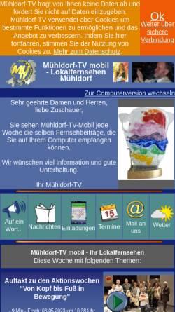 Vorschau der mobilen Webseite www.muehldorf-tv.de, Mühldorf-TV