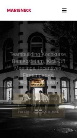 Vorschau der mobilen Webseite www.kochkurs-koeln.de, Erlebniskochen im Marien-Eck