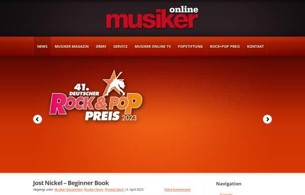 Vorschau von www.musiker-online.de, Deutscher Rock- und Popmusikerverband