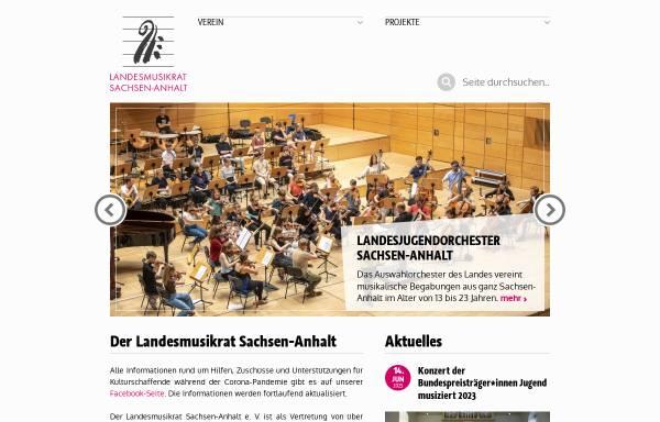 Vorschau von lmr-san.de, Landesmusikrat Sachsen-Anhalt