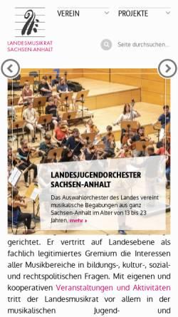 Vorschau der mobilen Webseite lmr-san.de, Landesmusikrat Sachsen-Anhalt