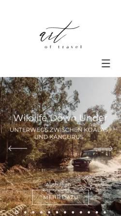 Vorschau der mobilen Webseite www.artoftravel.de, art of travel GmbH