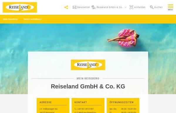 Vorschau von reiseland-baunatal.de, Reiseland GmbH