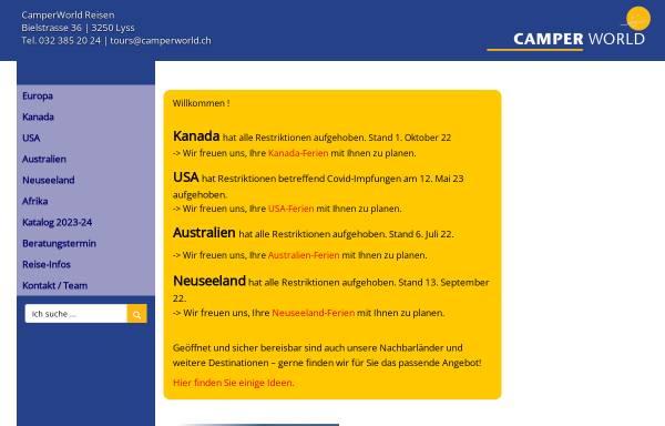 Vorschau von www.camperworld.ch, CamperWorld Reisen AG