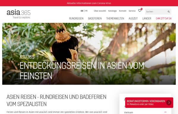 Vorschau von www.asia365.ch, intens travel