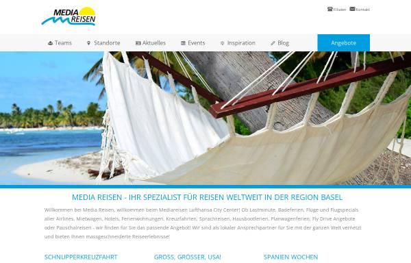 Vorschau von www.mediareisen.ch, Media Reisen