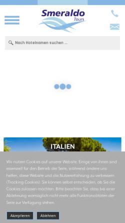 Vorschau der mobilen Webseite www.smeraldo-tours.ch, Smeraldo Tours