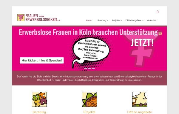 Vorschau von www.frauen-erwerbslos.de, Frauen gegen Erwerbslosigkeit e.V.