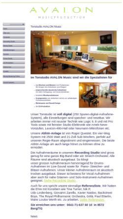 Vorschau der mobilen Webseite www.avalon-music.ch, AVALON Music Production AG