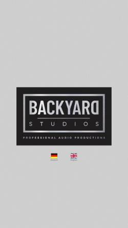 Vorschau der mobilen Webseite www.backyard-studios.de, Backyard Studios