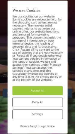 Vorschau der mobilen Webseite www.claudius-therme.de, Claudius Therme GmbH & Co. KG