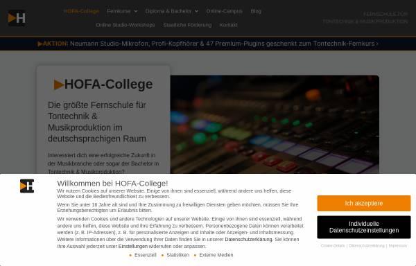Vorschau von www.hofa-college.de, Hofa Studios