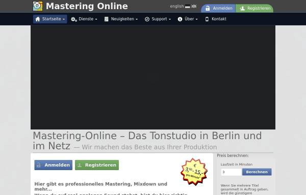 Vorschau von mastering-online.com, Mastering-Online