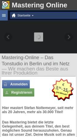 Vorschau der mobilen Webseite mastering-online.com, Mastering-Online