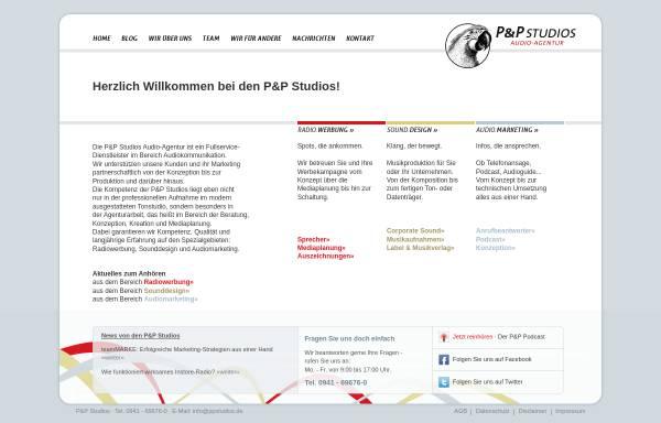 Vorschau von www.ppstudios.de, P&P Studios - Audio Agentur