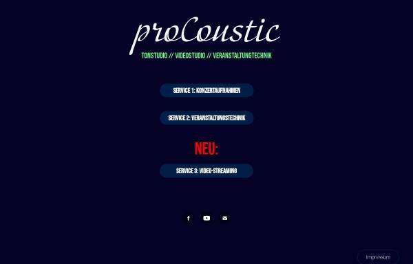Vorschau von www.procoustic.de, proCoustic-Recordingstudio bei Münster