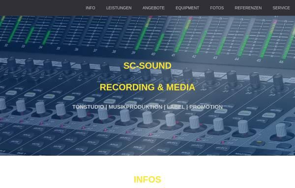 Vorschau von www.sc-sound.de, SC-Sound Recording