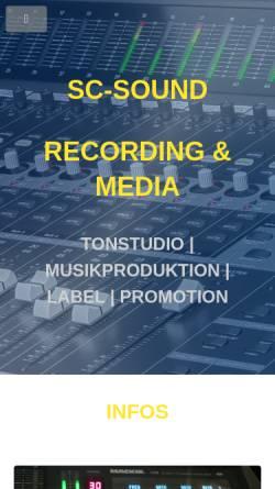 Vorschau der mobilen Webseite www.sc-sound.de, SC-Sound Recording