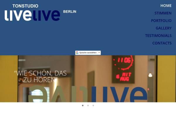 Vorschau von www.livelive.de, Tonstudio livelive e.K.