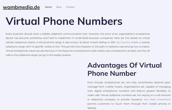 Vorschau von www.wamb.de, Tonstudio Wamb