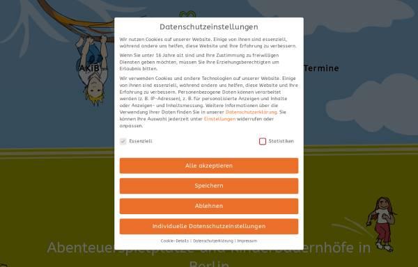 Vorschau von www.akib.de, Akib - Landesverbandes der Kinderbauernhöfe und Abenteuerspielplätze Berlin