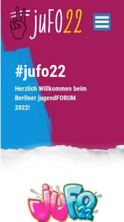 Vorschau der mobilen Webseite www.berliner-jugendforum.de, Berliner Jugendforum