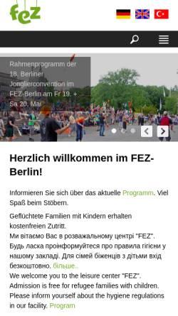 Vorschau der mobilen Webseite www.kindertag-berlin.de, Internationaler Kindertag im FEZ Wuhlheide