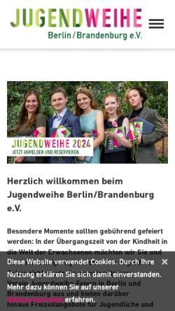 Vorschau der mobilen Webseite www.jugendweihe-berlin-brandenburg.de, Jugendweihe Berlin/Brandenburg e.V.