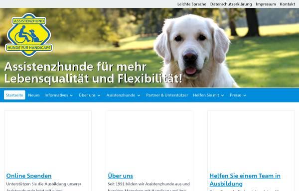 Vorschau von www.hundefuerhandicaps.de, Hunde für Handicaps - Verein für Behinderten-Begleithunde e.V.