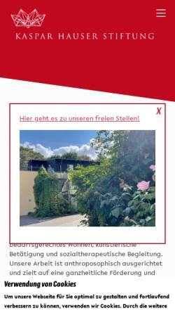 Vorschau der mobilen Webseite www.kht-berlin.de, Kaspar Hauser Therapeutikum Berlin