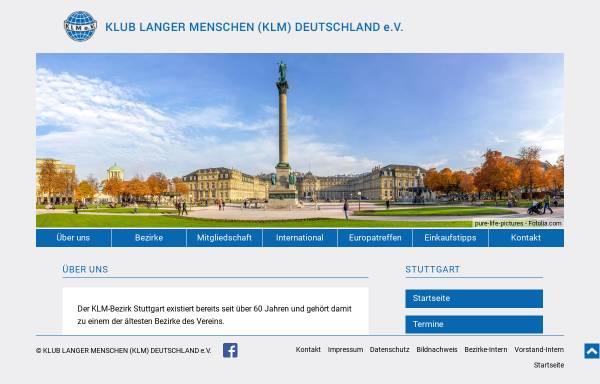Vorschau von www.klm-stuttgart.de, Klub langer Menschen (KLM) Deutschland e.V. Bezirk Stuttgart