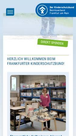 Vorschau der mobilen Webseite www.kinderschutzbund-frankfurt.de, Deutscher Kinderschutzbund