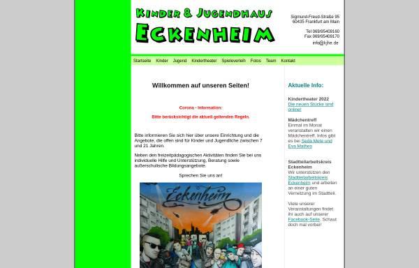 Vorschau von www.kjhe.de, Kinder- und Jugendhaus Eckenheim